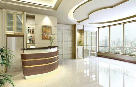 弧形吧台的设计,体现了业主对生活品质的追求